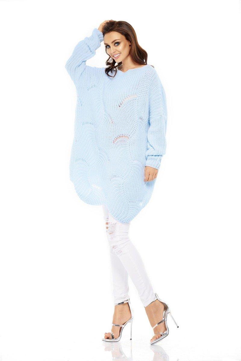 b100a1d693c282 lemoniade Luźny sweter oversize błękitna QUINN - Merg.pl