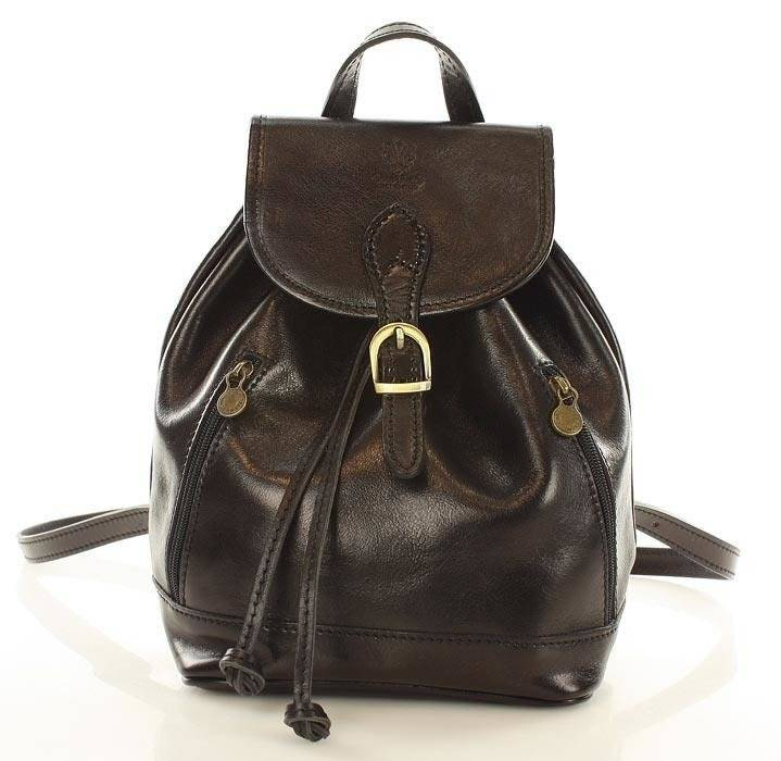 d6f6d3f60c500 CELESTA Włoski plecak skórzany czarny  CELESTA Włoski plecak skórzany  czarny ...