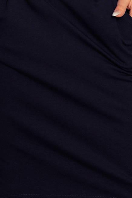 HEIDI Sukienka dresowa z dekoltem na plecach - GRANATOWA