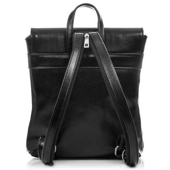 Plecak damski Włoski ze skóry naturalnej Czarny