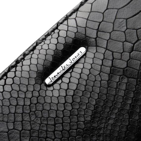 Skórzany portfel damski skóra wężowa kopertówka