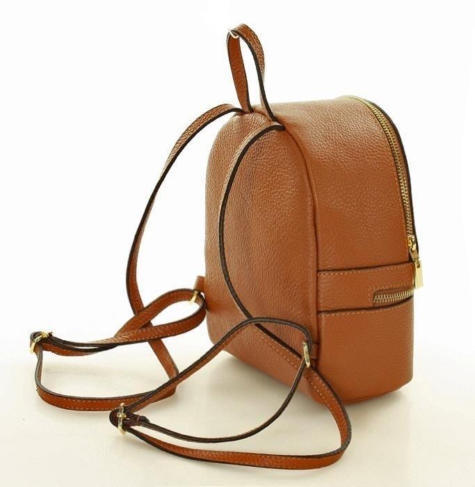 ANITA Włoski plecak  MARCO MAZZINI - camel