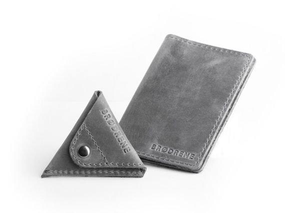 Komplet: portfel + bilonówka Brodrene szary