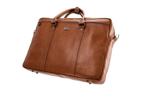 Skórzana torba na ramię laptopa Solier