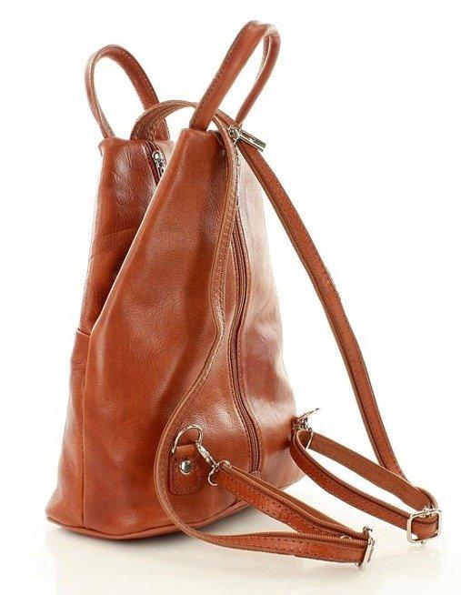 Modny plecak damski camel MORENA CLASSIC