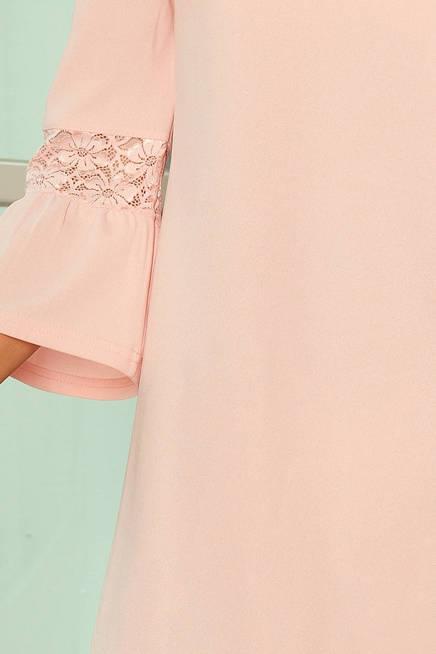 Haven sukienka z koronką na rękawkach - PASTELOWY RÓŻ