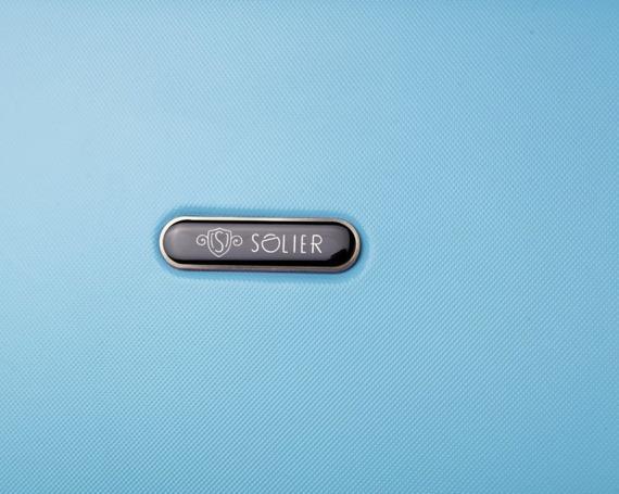 Walizka podróżna twarda średnia STL856 błękitny