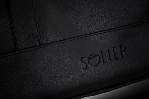 Męska elegancka torba na ramię Solier NORMAN czarna