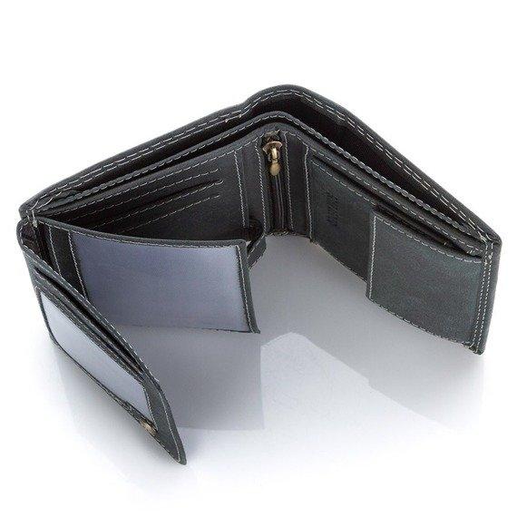 Czarny PORTFEL MĘSKI BLUE & BURRY OCHRONA KART RFID