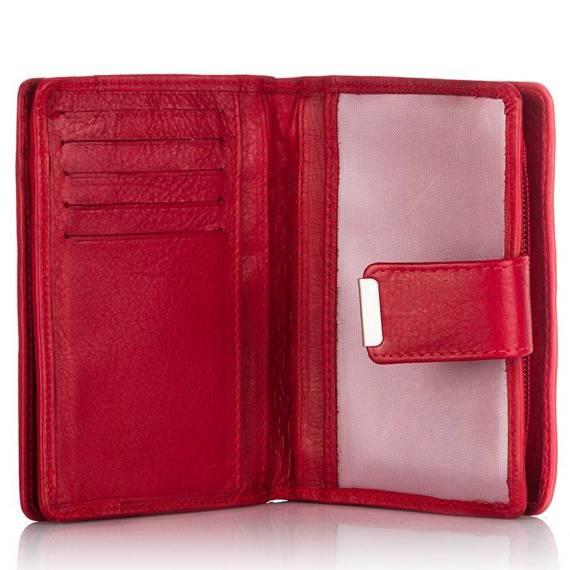 Skórzany portfel damski  - skórzane portfele w 6 kolorach