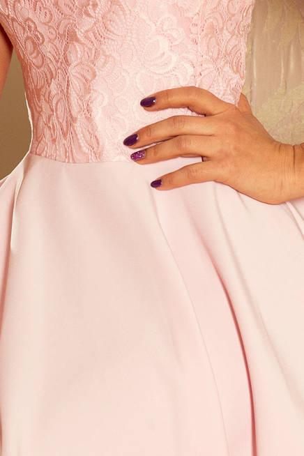 Sukienka MARIA z koronką - PASTELOWY RÓŻ