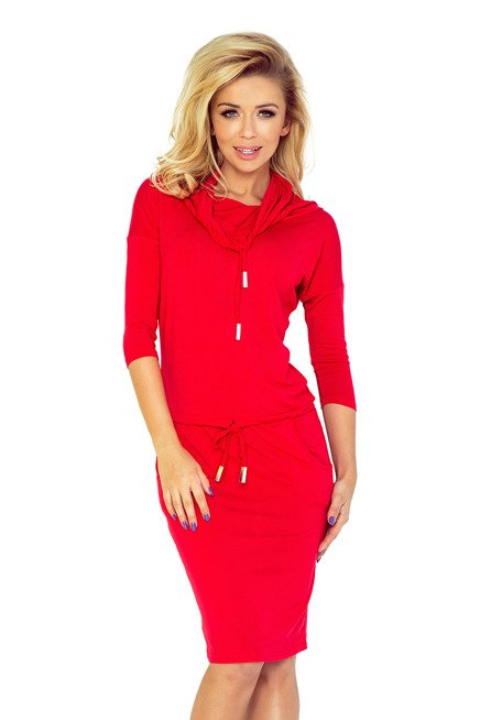 Chantal Sukienka sportowa z golfem - czerwona