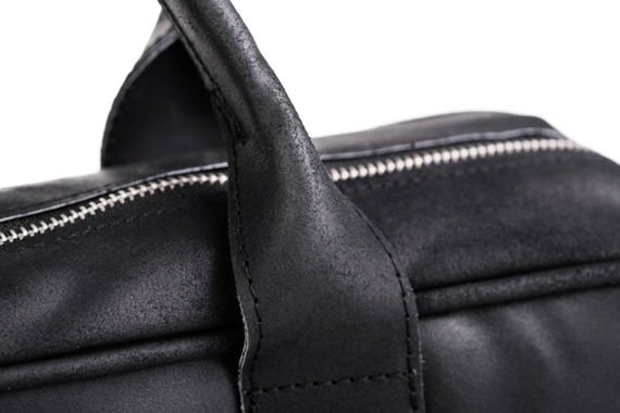 Skórzana torba Elegancja i nowoczesność Czarny