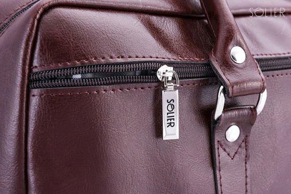 Skórzana torba na ramię laptopa Solier MARCEL Brąz