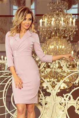 AMBER  Elegancka sukienka z dekoltem - LILA