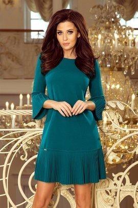 BRANDY - plisowana wygodna sukienka - NIEBIESKA