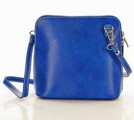 CeciliaLlistonoszka skórzana torebka MAZZINI - niebieski jeans