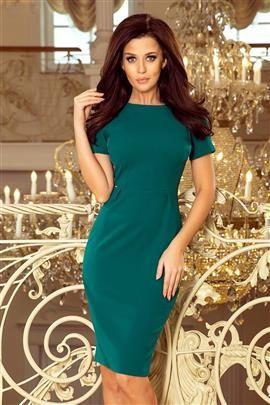 Sukienka TEREZA- elegancka - ZIELONA